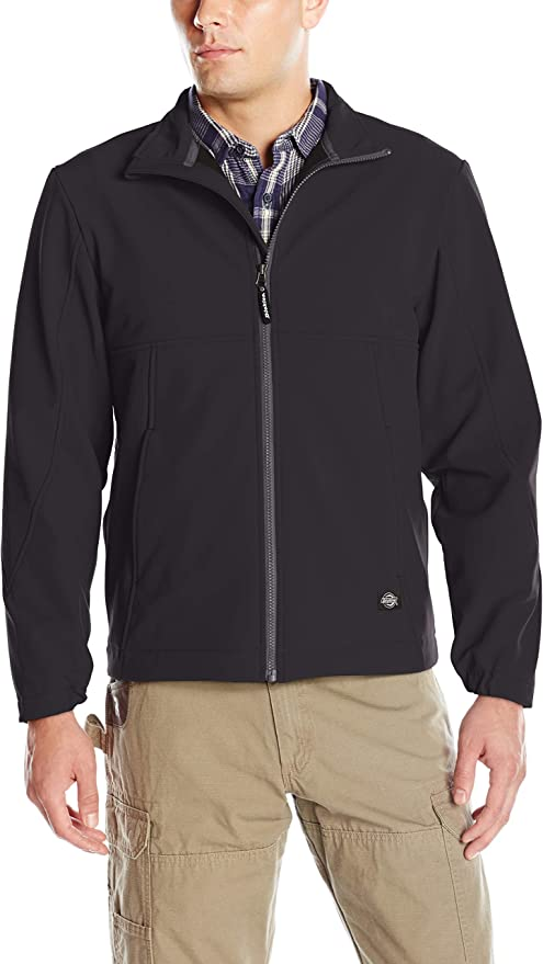 Dickies Two Tone Softshell Jacket Waterproof Coat Fleece Work Red