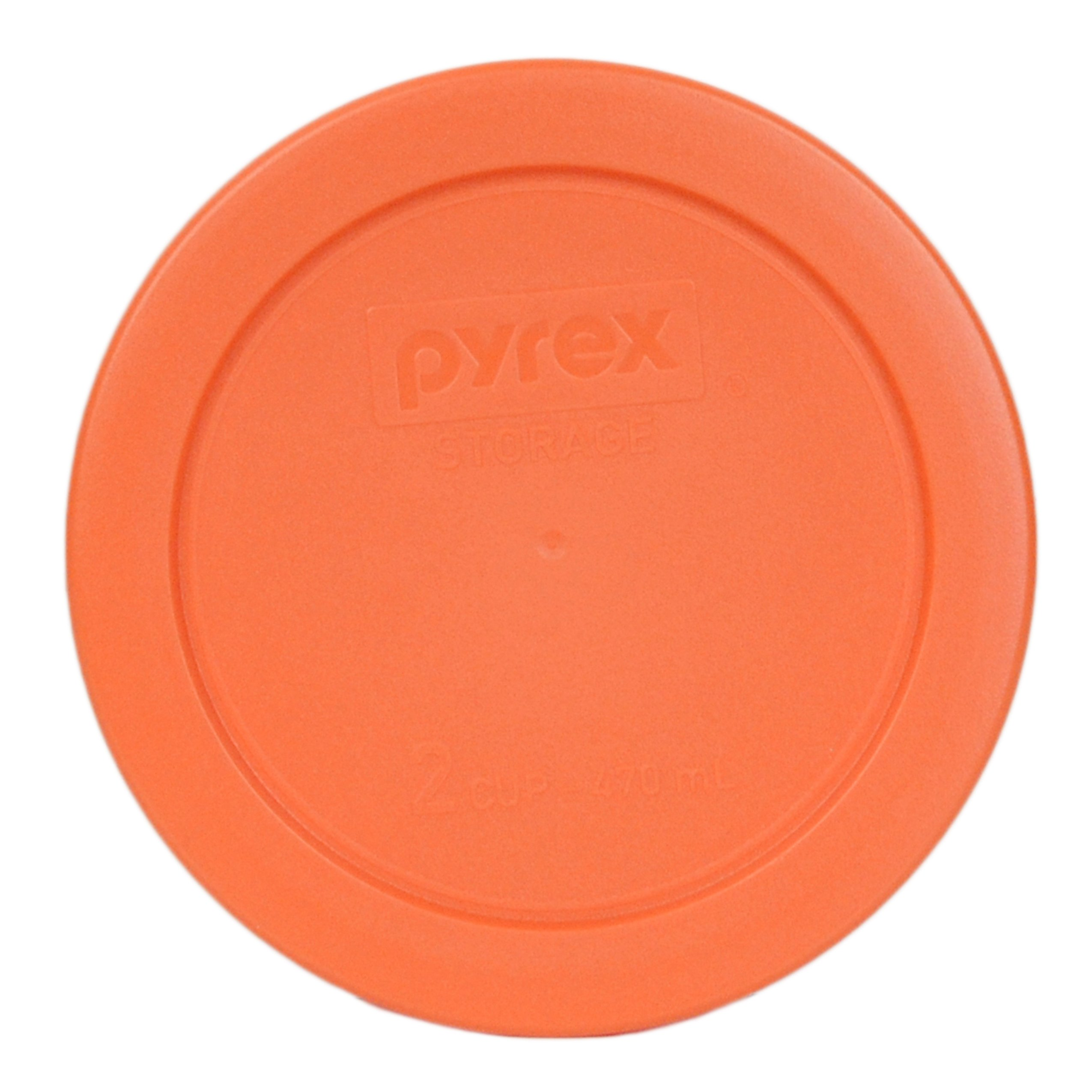 Pyrex 7200-PC Round 2 Cup Storage Lid for Glass Bowls (6, Orange) by Pyrex (Image #2)
