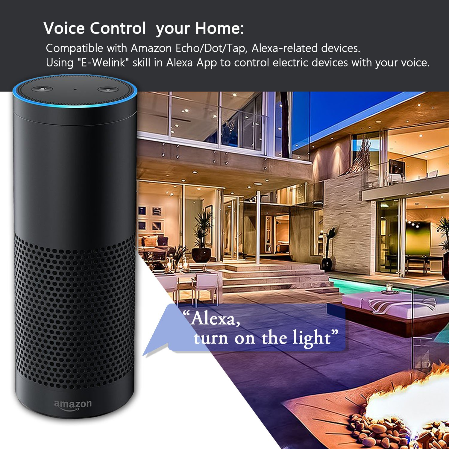 Smart Light Switch Wi Fi In Wall Wireless Compatible Wiring Up A One Way Additionally New Wire Fixture With Amazon Alexa Remote Control Your Fixtures From Anywhere Timing Function