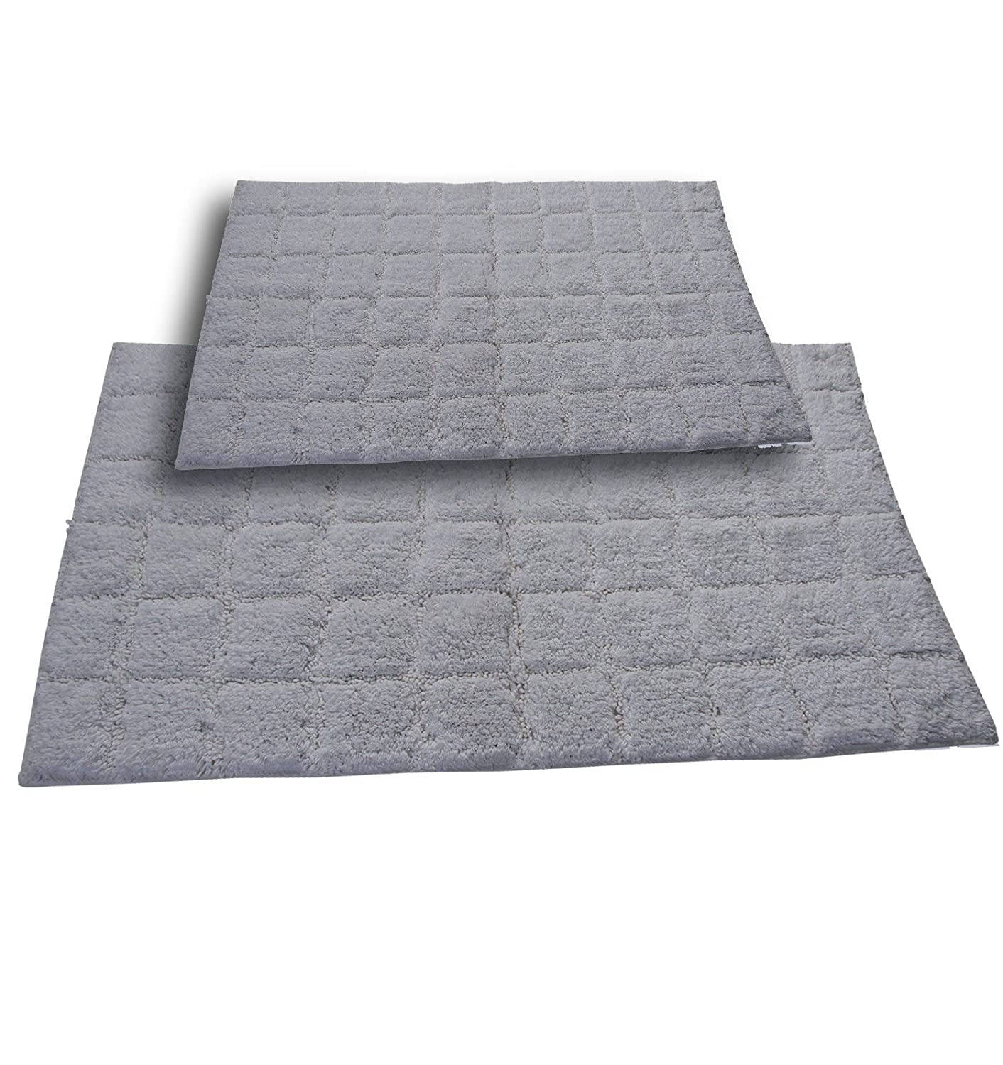 Castle Hill CH-BR-20X30/&24X40-SUMT-2PCS-WH 2-Piece Bath Rug Sets 20 by 30-Inch//24 by 40-Inch White