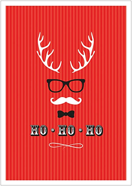 Ho Cool Modern Christmas Card Funny Xmas Cards Available In Sets Of 1