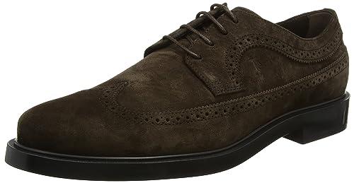 Tods Shoes Suede, Mocasines para Hombre, Marrón (Testa Moro S800), 42