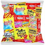 Bulk Assorted Fruit Candy - Starburst, Skittles, Swedish Fish, SweeTarts, Nerds, Sour Patch Kids, Haribo Gold-Bears Gummi Bea