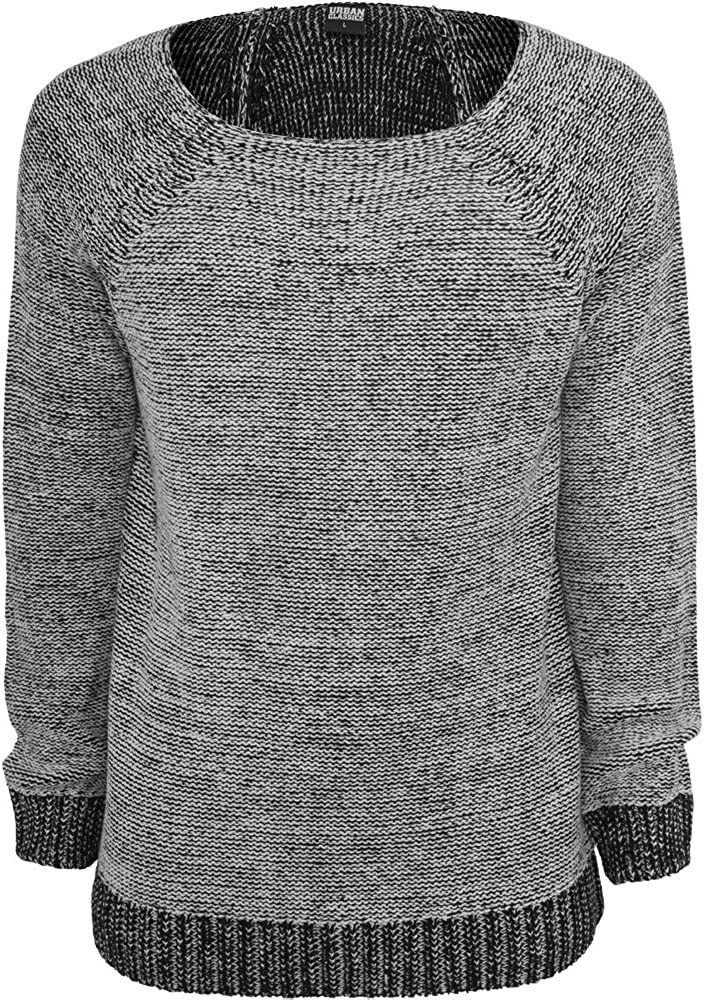 WIDE NECK Knitted Sweater grey Urban Classics