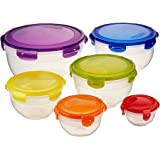 Neoflam Poly 12-piece Fiesta Bowls Food Storage Set with Airtight Lids in Multicolor