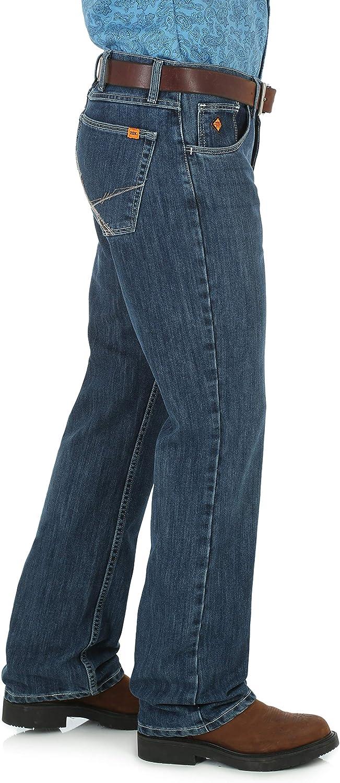 Wrangler Mens 20x Flame Resistant Vintage Boot Cut Jean Work Utility Pants