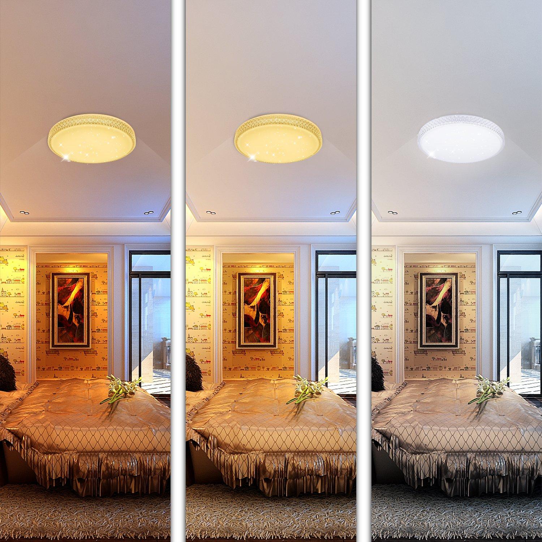60w led deckenleuchte starlight design wandlampe wohnraum schlafzimmer lampe farbwechsel rund. Black Bedroom Furniture Sets. Home Design Ideas