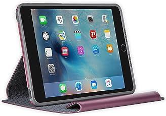 OtterBox Simetría Series Funda para iPad Mini 4(Solo), Empacado, Gris, (Merlot Shadow Gris, (Merlot/Slate Grey)), Una Talla