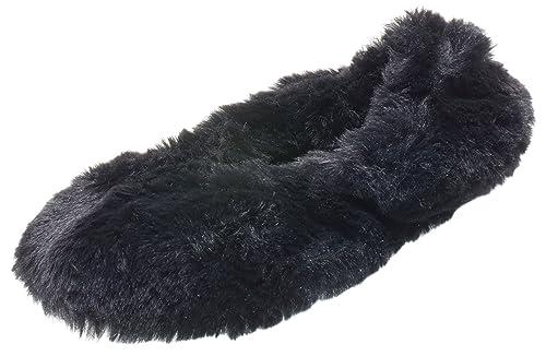 Amazon.com   ISOTONER Women s Bunny Fur Ballerina   Slippers e52340c6c5a5