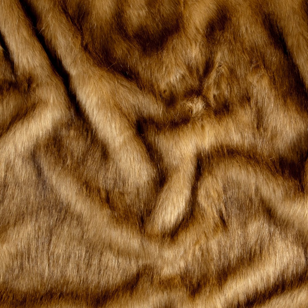 Shannon Mountain Lion Faux Fur Caramel Fabric By The Yard