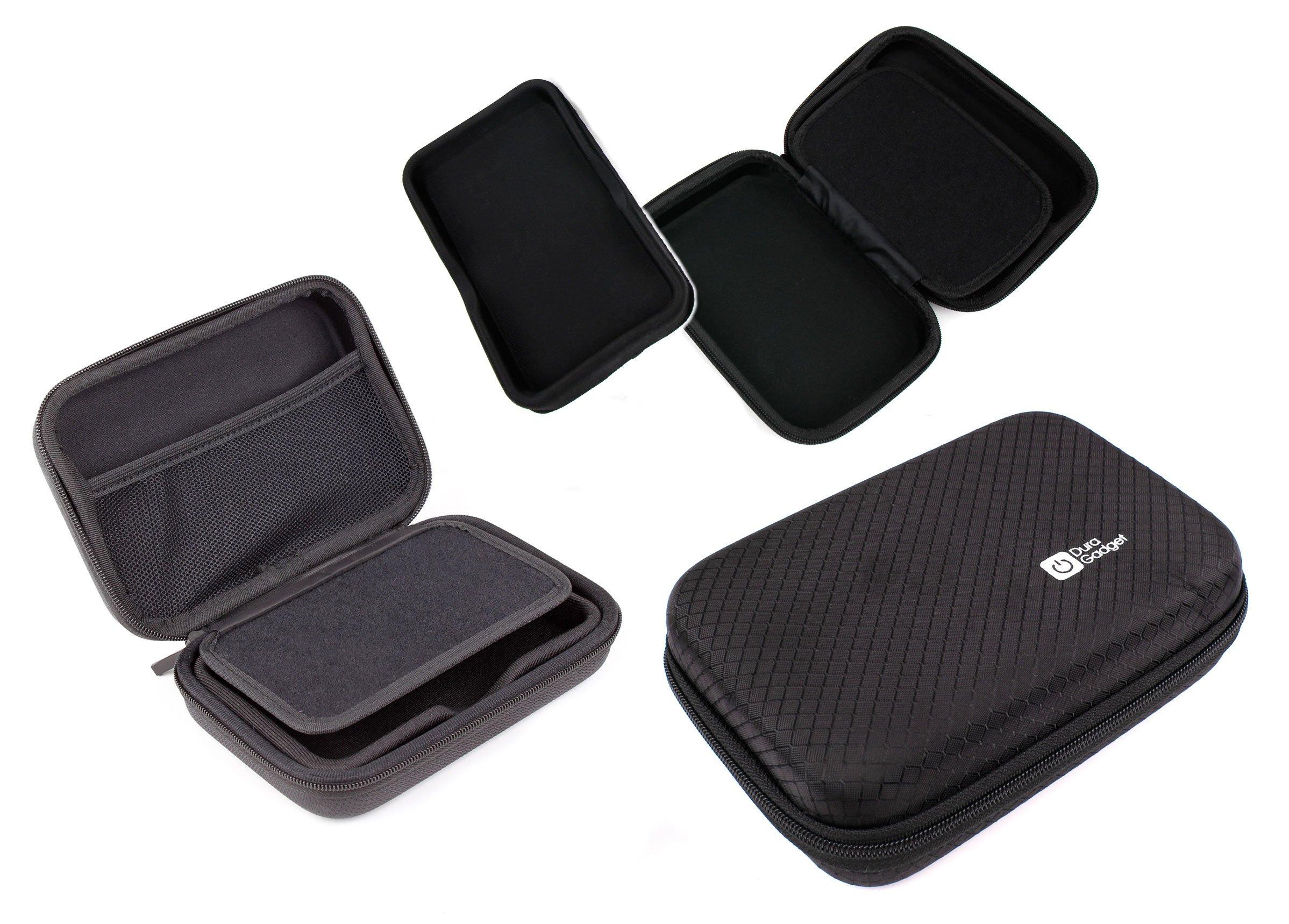 DURAGADGET 5-inch Hard Shell EVA Case in Matte Black for The Tomtom Go Basic 5 inch | Tomtom Rider 420