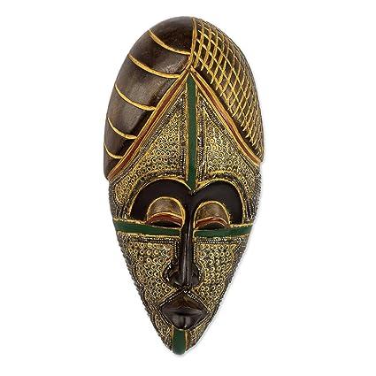 3cc25aa60ec3 Amazon.com: NOVICA Decorative Wood Cultural Mask, Beige and Brown ...