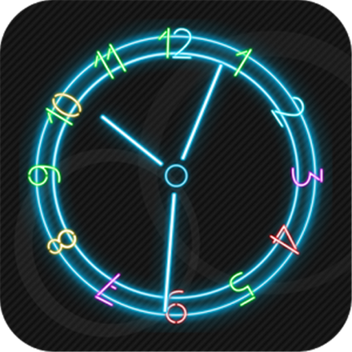 Win Star Neon Clock Wallpaper product image