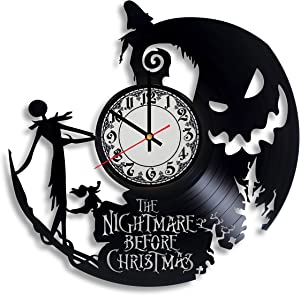 Olha Art Design Jack Skeleton Ornament Clock - The Nightmare Before Christmas Kids Clock, Jack and Sally Decor, The Nightmare Before Christmas Women Ornaments