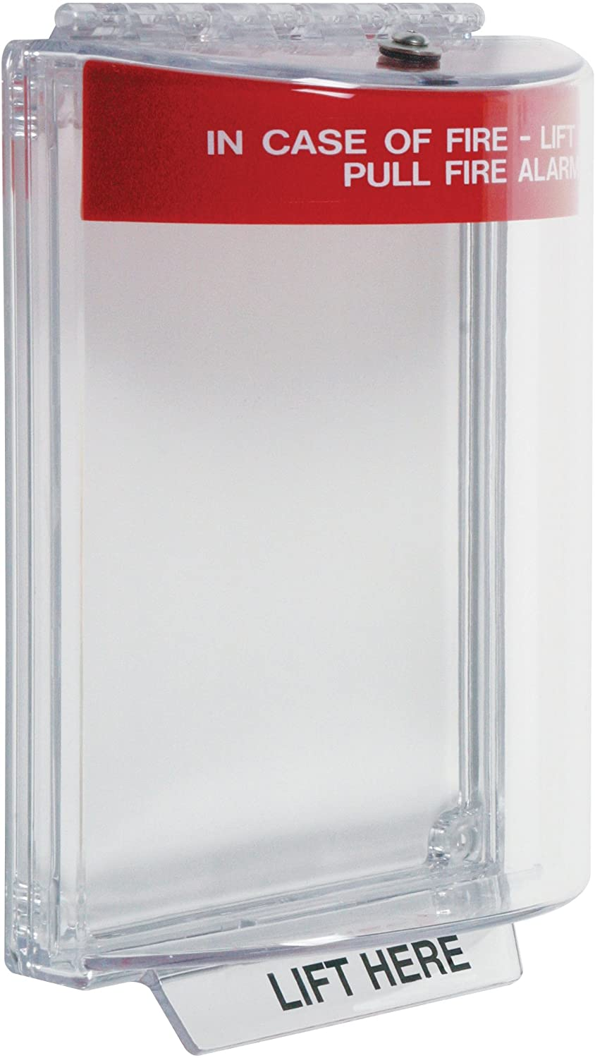 Safety Technology International, Inc. STI-13010FR Universal Stopper, Flush Mount and Fire label, Indoor/Outdoor Protective Polycarbonate Cover for Pull Stations or Call Points