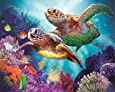 Diamond Painting by Number Kits DIY Full Drill Crystal Rhinestone Cross Stitch Embroidery Arts Craft Picture Supplies for Home Wall Decor - Sea Turtles 12x16 inches