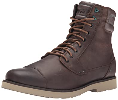 Teva Mens M Mason Tall Leather Mid Casual Boot Brown