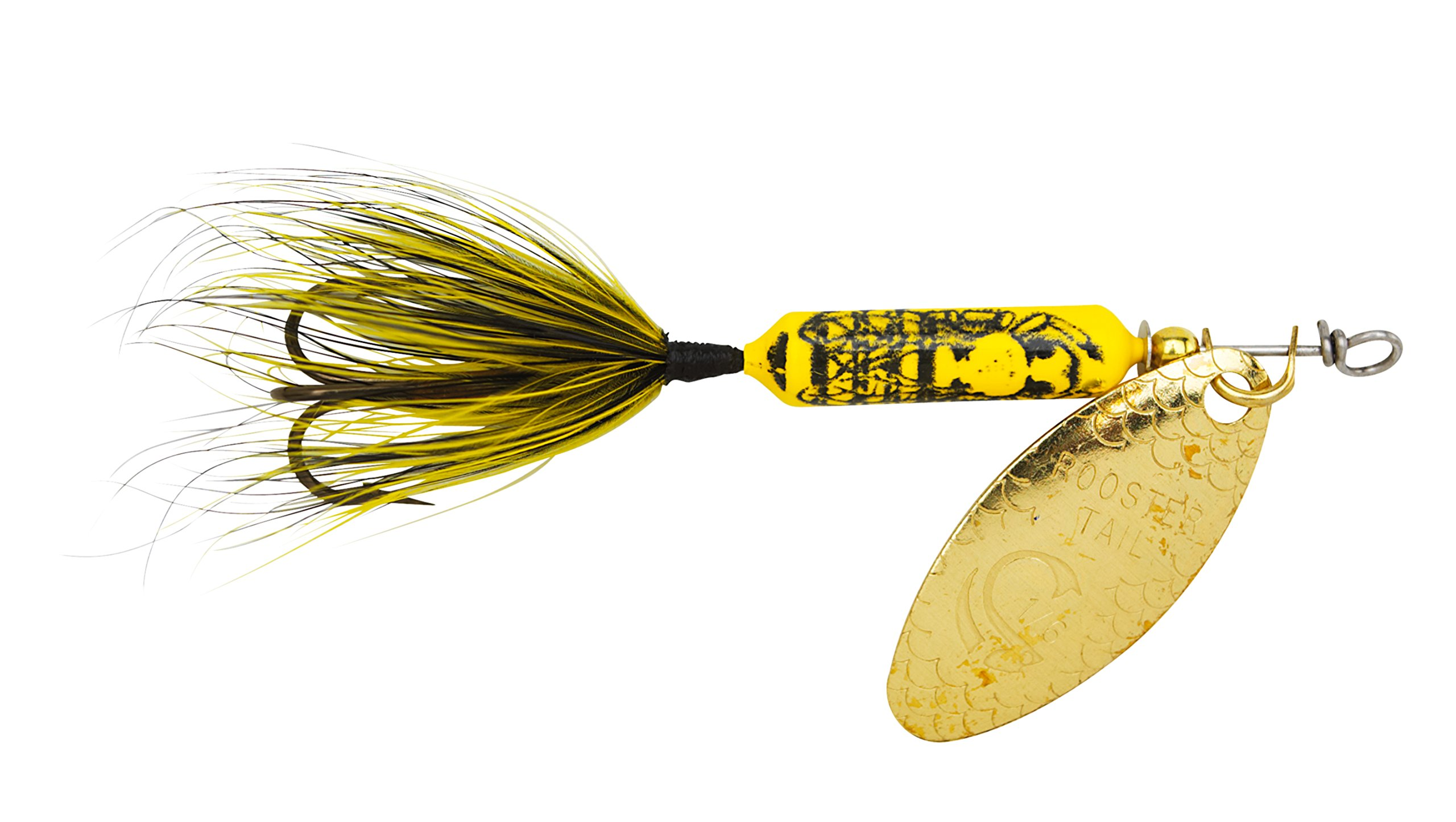 Yakima Bait Wordens Original Rooster Tail 1/16oz Spinner Lure, 3 Pack- Bumblebee by Yakima Bait