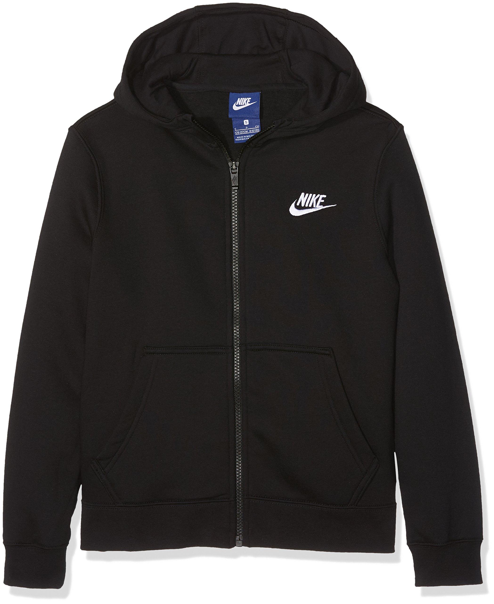 NIKE Boys NSW Hoodie FZ Club #805499-010 (S) by Nike (Image #1)