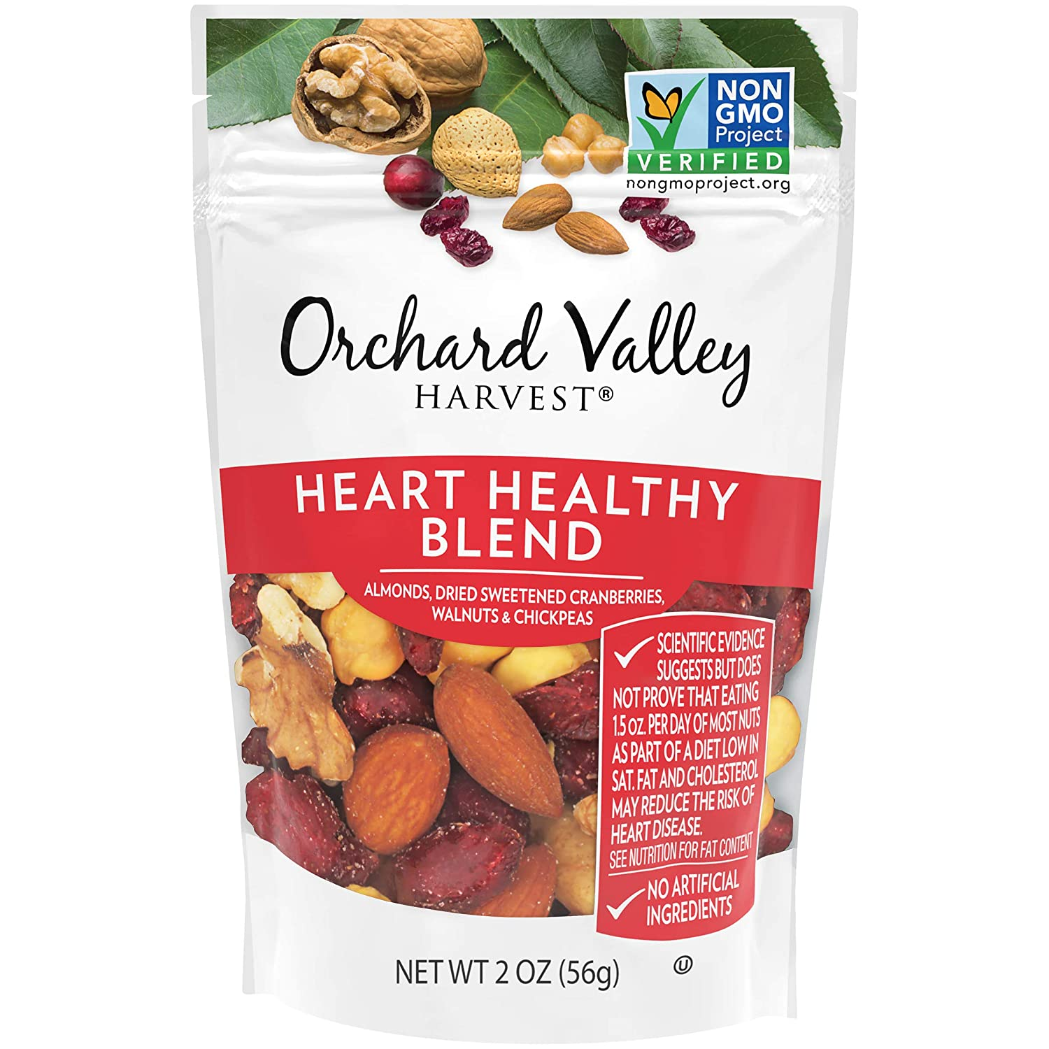 ORCHARD VALLEY HARVEST Heart Healthy Blend, 2 oz (Pack of 14), Non-GMO, No Artificial Ingredients