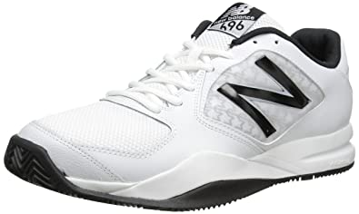 new balance tennis shoes. new balance men\u0027s mc696 light weight tennis shoe, white/black, shoes b