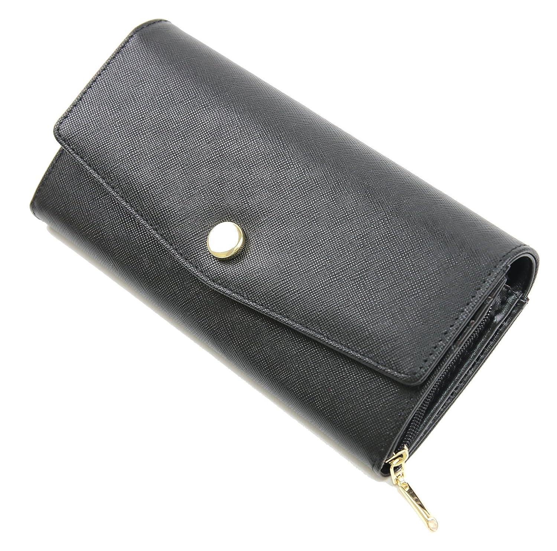 《 RESPIL 》 本革 長財布 シンプル 無地 大容量 お洒落 コーデ しやすい レディース 財布 ブランド B07F6BYHJ7 ブラック ブラック
