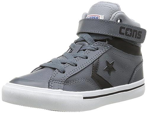 Blaze Pro Mid Strap Ragazzo Converse Grau Junior Sneaker Leather 4B5nq