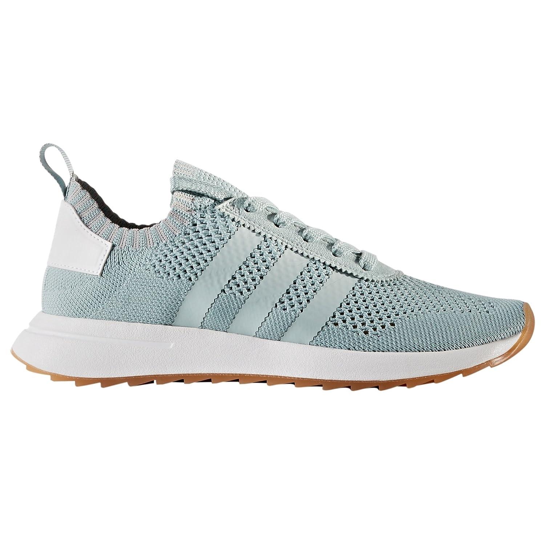 Adidas Primeknit Flashback FLB. Blancas y Verdes. Zapatillas Deportivas Running para Mujer