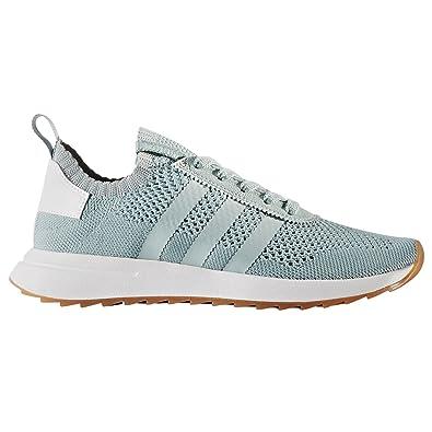 outlet store 6a6f9 003dc Adidas Primeknit Flashback FLB. Blancas y Verdes. Zapatillas Deportivas  Running para Mujer  Amazon.es  Zapatos y complementos