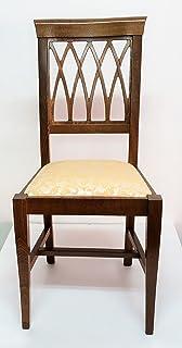 Sedie In Legno Arte Povera.Sedia In Legno Classica Arte Povera Seduta Imbottita Noce Amazon