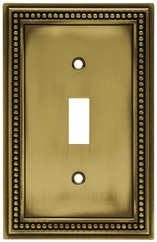 Brainerd 64411 Beaded Single Toggle Switch Wall Plate / Switch ...