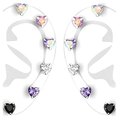e9ac61db9 Image Unavailable. Image not available for. Color: 925 Sterling Silver  Hypoallergenic ...