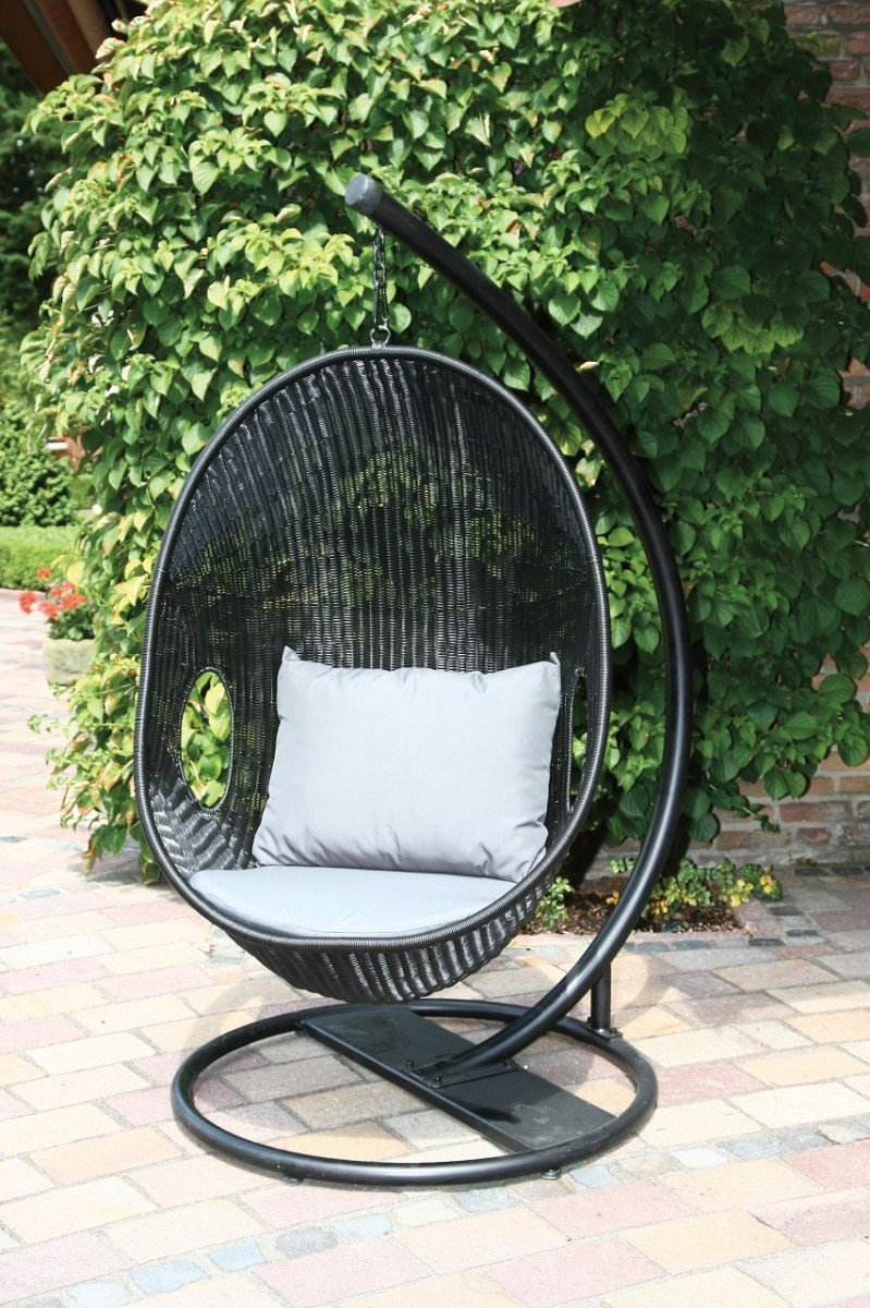 Loungemöbel outdoor schwarz  Dreams4Home Hängesessel 'Area' - Sessel, Korbmöbel, hängend, mit ...