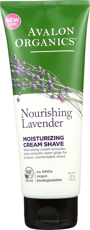 Avalon Organics Cream Shave, Nourishing Lavender, 8 Ounce Hain Celestial W-BB-2263