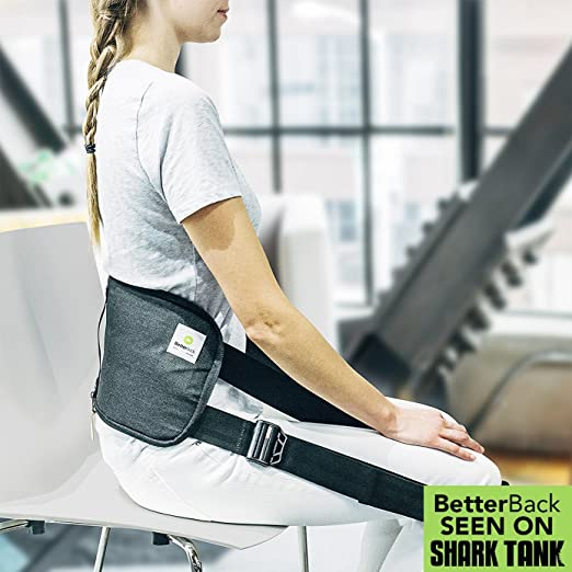 BetterBack - #1 Lower Back Support Posture Belt | As Seen On Shark Tank USA | Improves Posture & Eases Lower Back Pain While You Sit (Use For Just 15 Mins A Day) |For Men & Women|Doctor Recommended