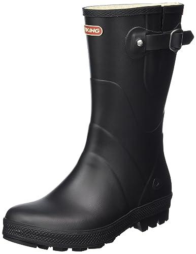 Viking Noble Schwarz, Damen Gummistiefel, Größe EU 38 - Farbe Black Damen Gummistiefel, Black, Größe 38 - Schwarz