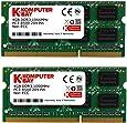 Komputerbay 8GB (2 x 4GB) DDR3 SODIMM (204 pin) 1066Mhz PC3 8500 for Apple 8 GB