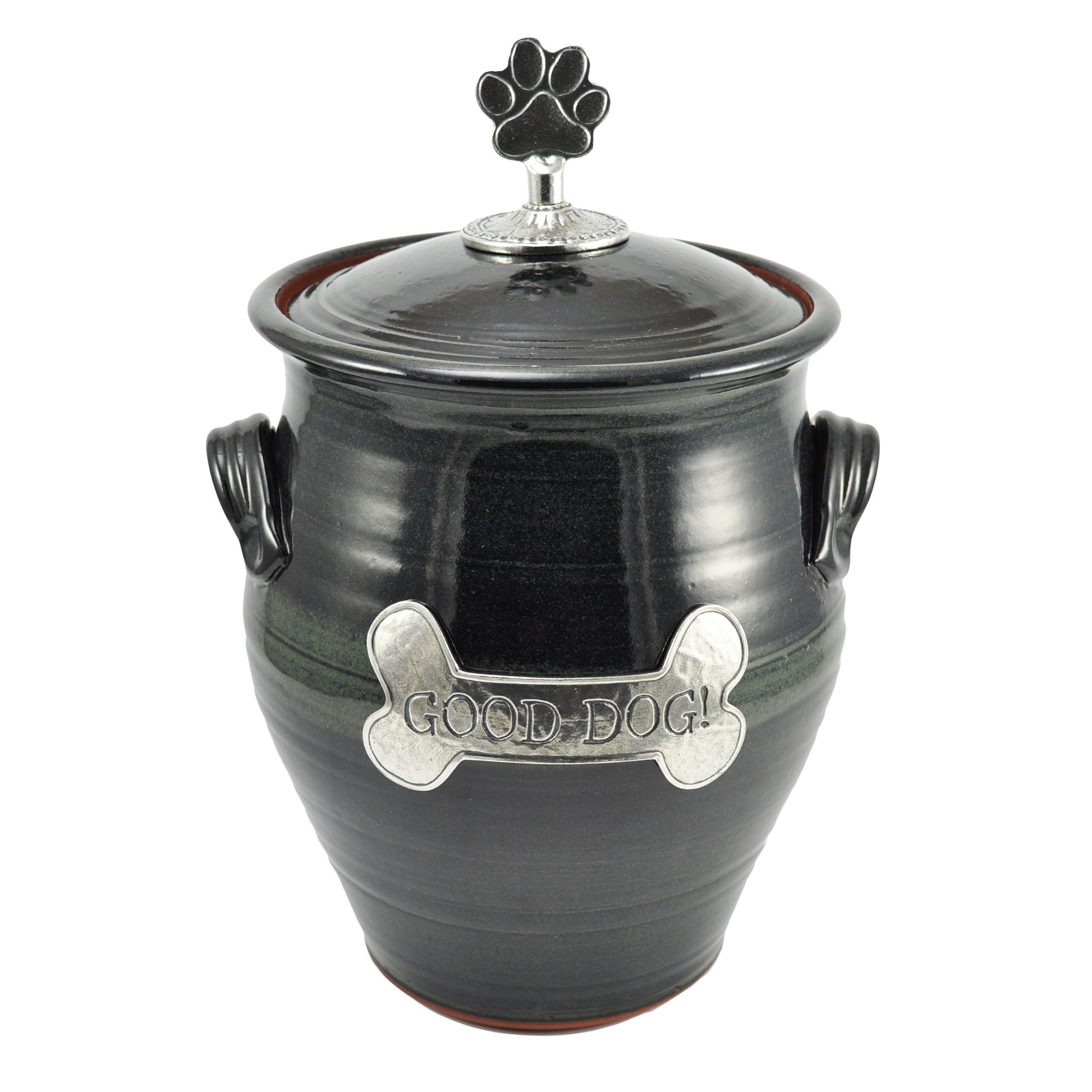 Oregon Stoneware Studio Large Dog Treat Jar, Blackberry by Oregon Stoneware Studio
