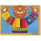 Melissa&Doug 美丽莎和豆豆 基础能力板 穿衣服的小熊