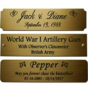 Amazoncom Size 3 W X 1 H Personalized Custom Engraved