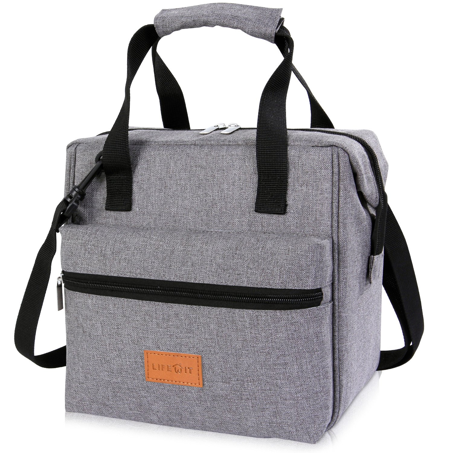 Lifewit 10L Insulated Lunch Box Bag for Adults Kids Men Women, 3-Way Carrying Thermal Bento Bag Cooler Bag for Work/School / Picnic, Grey