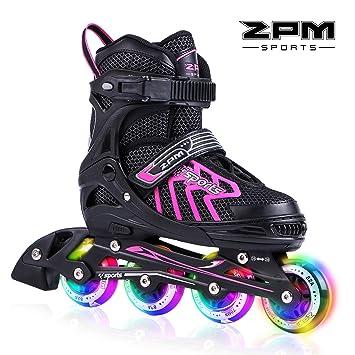 2pm Sports Brice tamaño ajustable iluminación patines en línea para niños y adolescentes con luz completa