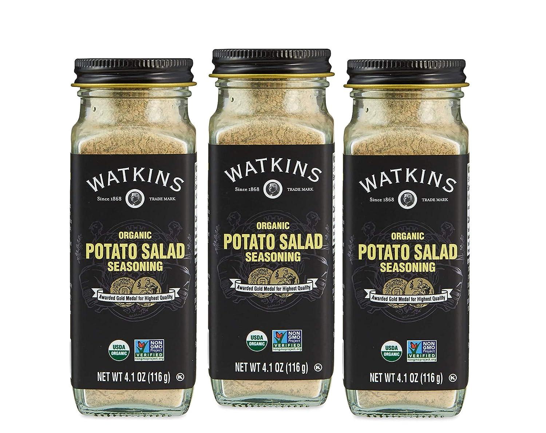 Watkins Gourmet Organic Spice Jar, Potato Salad Seasoning, 4.1 oz. Bottle, 3-Pack
