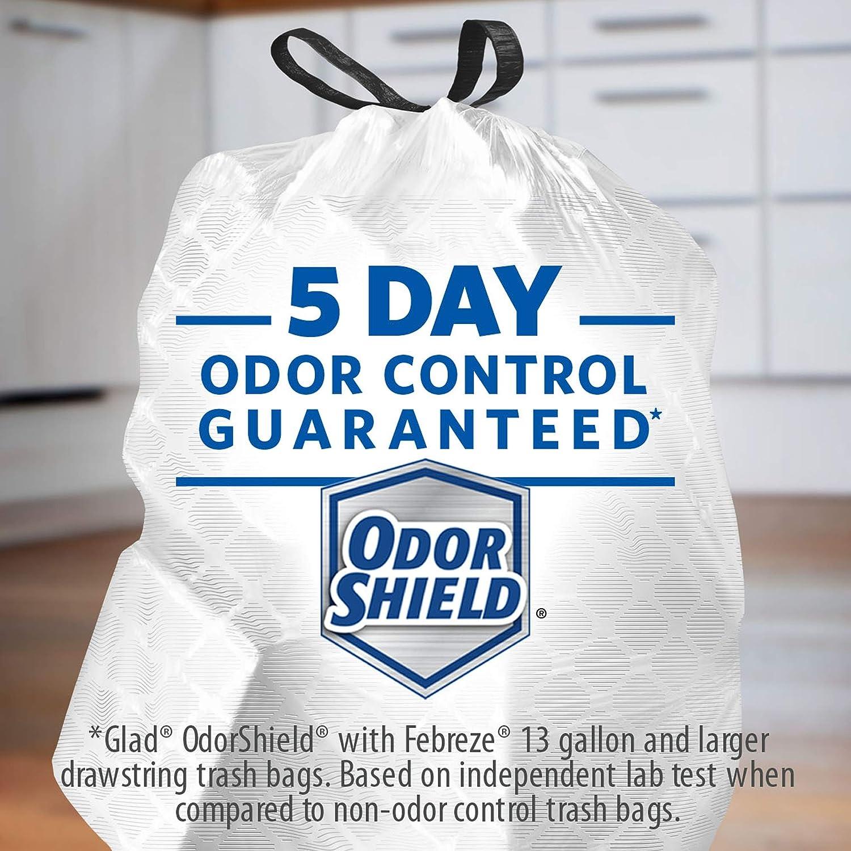 Amazon.com: Glad ForceFlexPlus Tall Kitchen Drawstring Trash Bags ...