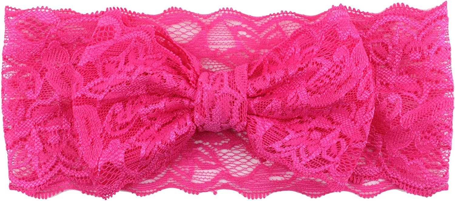 Lucky Shop1234 Baby Girls Lace Knotted Headbands Turban Hairbands for Newborn Toddler and Children