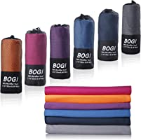 BOGI Microfiber Travel Sports Towel-(Size: S M L XL)-Antibacterial Dry Fast Soft Lightweight Absorbent&Ultra...