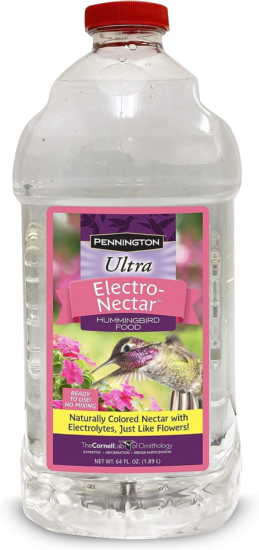 Pennington Electronectar Ready-to-Use Hummingbird Nectar 64 oz, Clear