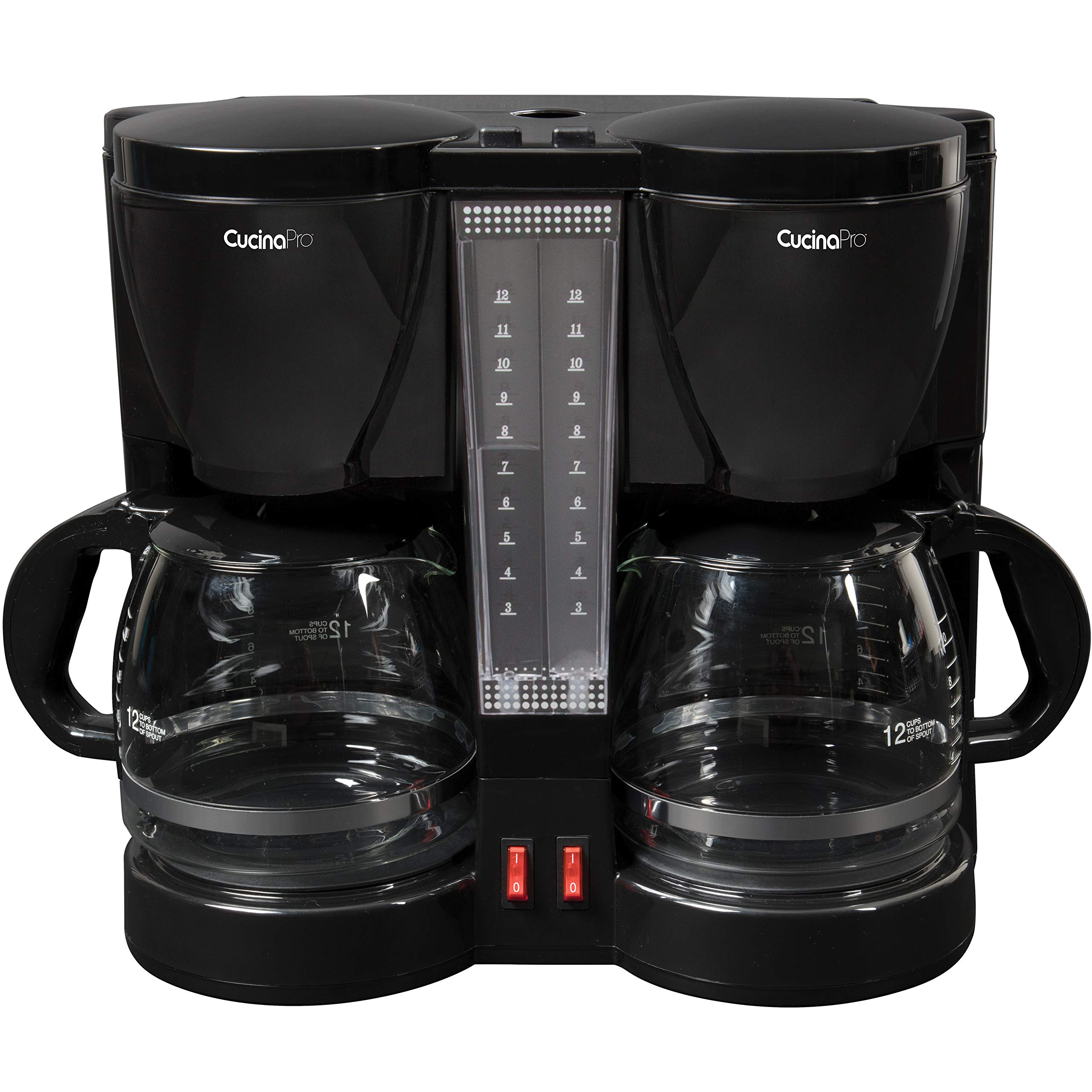 CucinaPro Double Coffee Brewer Station - Dual Coffee Maker Brews two 12-cup Pots, each with Individual Heating Elements by CucinaPro (Image #4)