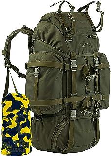 WiSPORT® REINDEER 55 L Mochila | Militar | Cordura | Pesca | Senderismo | Acampan, camuflaje:A-Tacs LE: Amazon.es: Deportes y aire libre