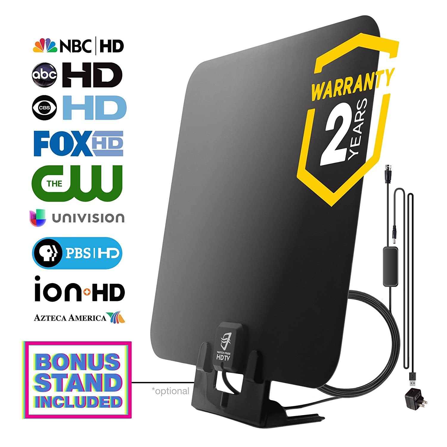 Top 10 Best HD TV Antenna Reviews 2018-2019 - cover